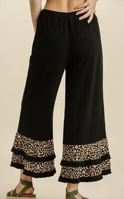 Hey  Mama Leopard Ruffled Pants