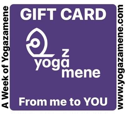 A Week of @yogazamene GIFT CARD