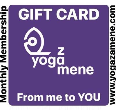 A Month of @yogazamene GIFT CARD