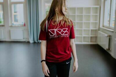 JRS- T-shirt Dunkelrot
