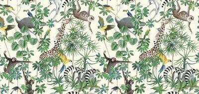 THEVENON - RUFLETTE CURTAIN - la jungle des animaux