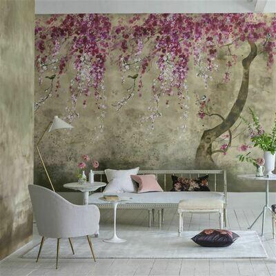 DESIGNERS GUILD - Shinsha Blossom Panoramic Wallpaper