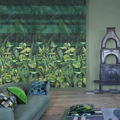 DESIGNERS GUILD - Arjuna Leaf Viridian Panoramic Wallpaper
