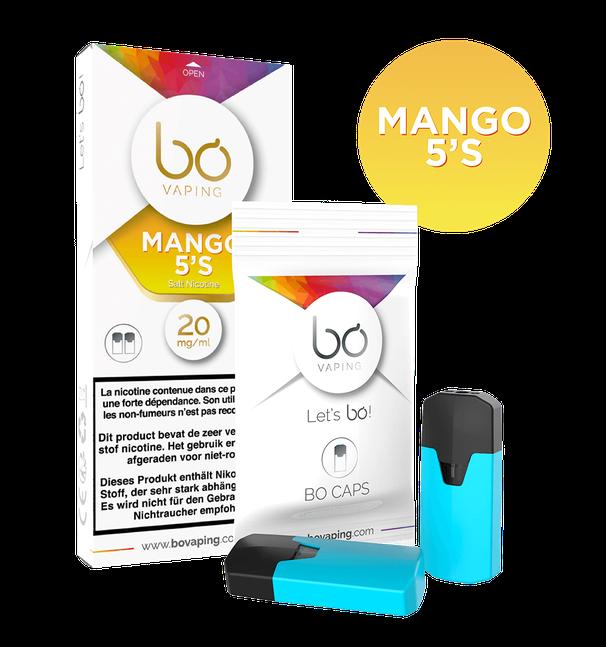 Bo Caps Boite de 2 Mango 5's 20 Mg Salt Nic
