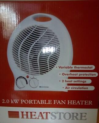 Heatstore 2kW Portable Fan Heater & Thermostat