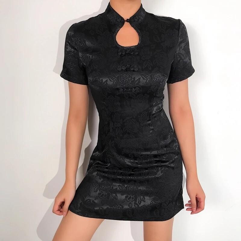 Qipao Dress - Black