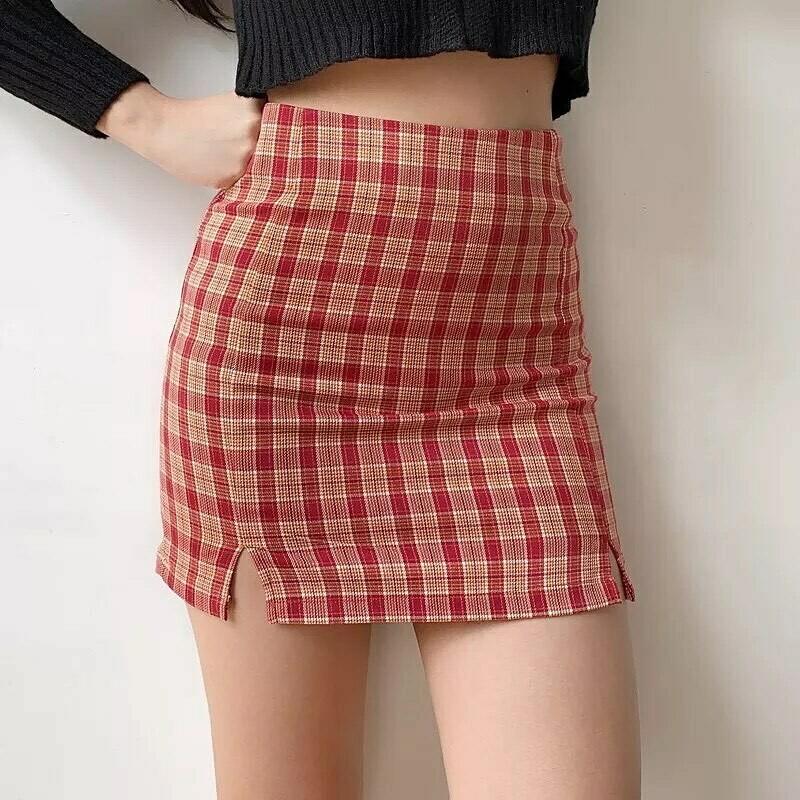Plaid Of 90's Skirt