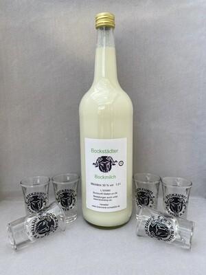 Fasnetsangebot    1 Liter Bockmilch und   6 Stamper