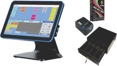 """4POS 15"""" All-in-1 Touch Solution (Without Scanner)"""