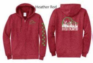 Zip Up - Heather Red/Green