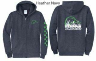 Zip Up - Heather Navy/Green