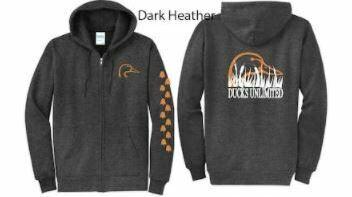 Zip Up - Dark Heather/Orange
