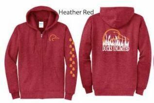 Zip Up - Heather Red/Orange