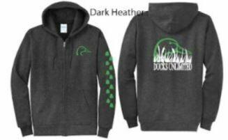 Zip Up - Dark Heather/Green