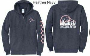 Zip Up - Heather Navy/Pink