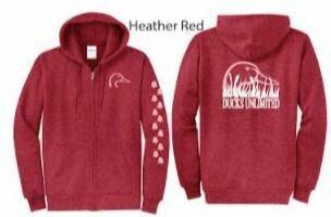 Zip Up - Heather Red/Pink