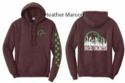 Pull Over - Heather Maroon/Green