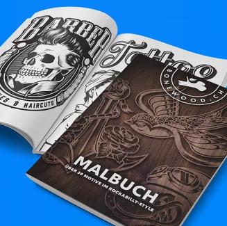MALBILLY (Malbuch) von Bonewood
