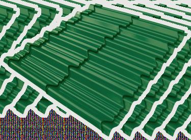 multi color permata hijau 2 X 5