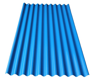 Spandek model seng gelombang type POLAR  warna biru  panjang sesuai pesanan tebal tct 0,30 mm