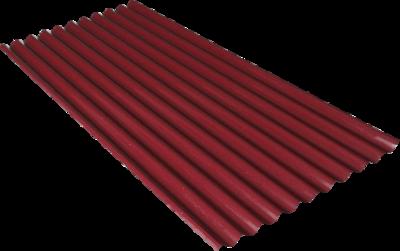 Spandek motif seng gelombang type polar warna maron, panjang sesuai pesanan, tebal tct 0,25mm