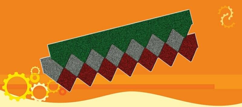 multi sirap metal motif borneo tebal tct 0,35mm