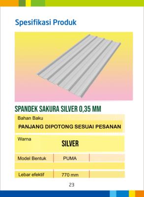 Spandek sakura silver tebal tct 0,35 mm