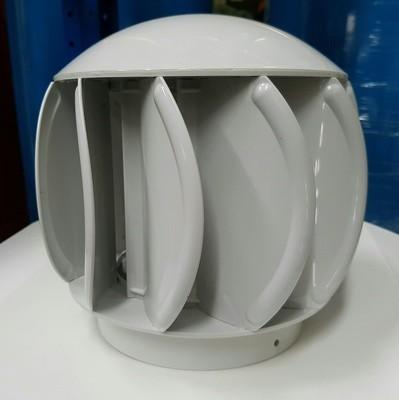 Extractor eólico de policarbonato modelo sewer en color gris