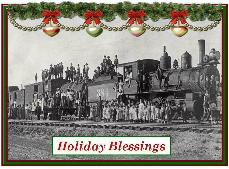 Florence Historical Archive Christmas Cards 2019 - Orphan Train Package of 8 cards
