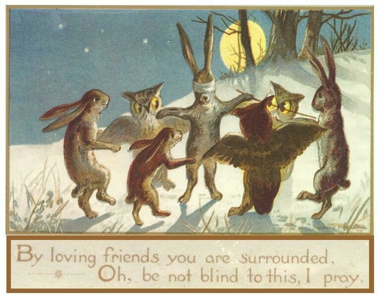 Florence Historical Archive Christmas Cards 2020 - Woodland Animals Package of 8 cards