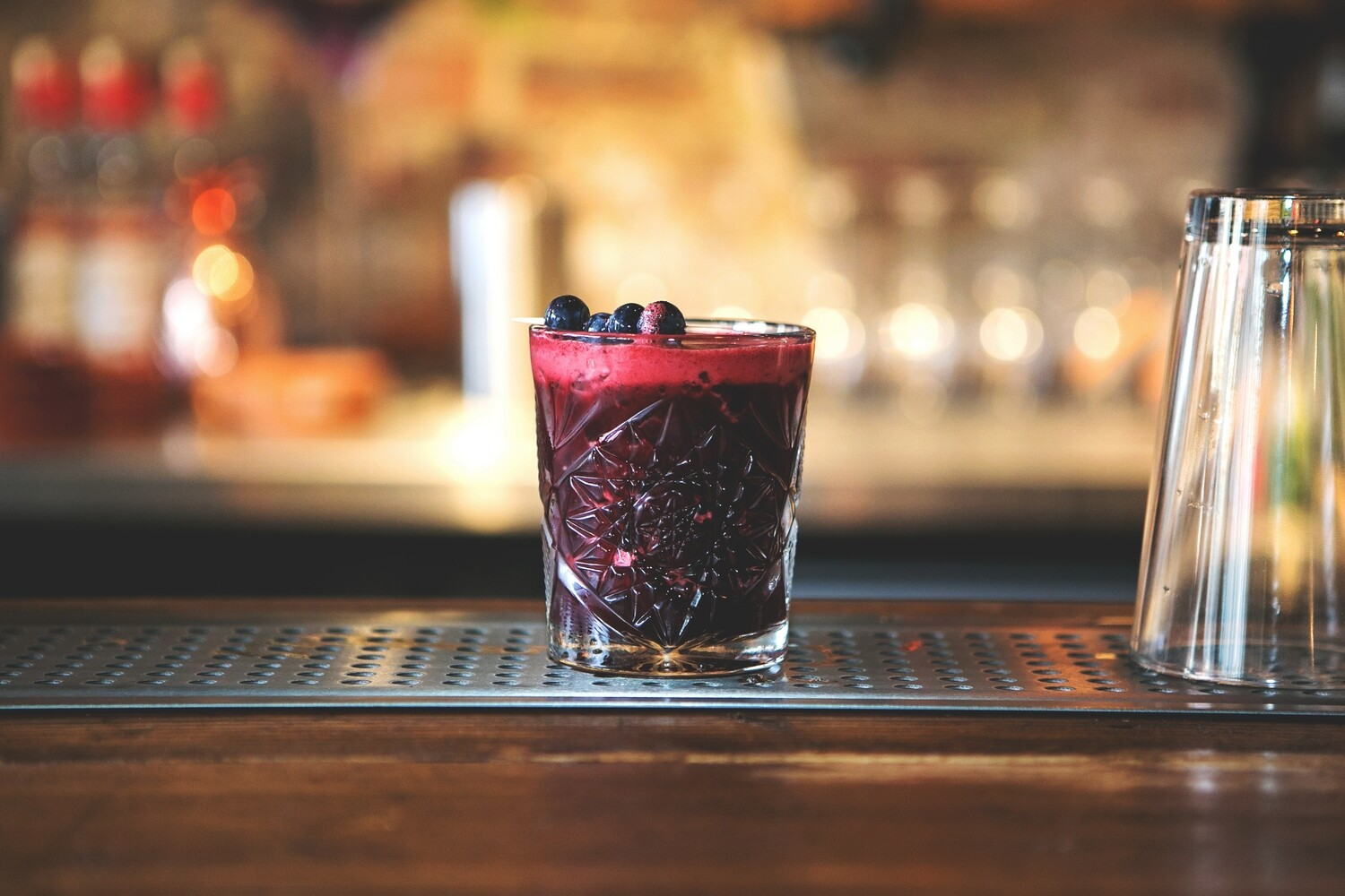 Blueberry Cherry Amaretto Sour