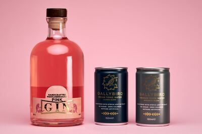 Nuthatch Pink Gin & Bird Glasses Gift Set