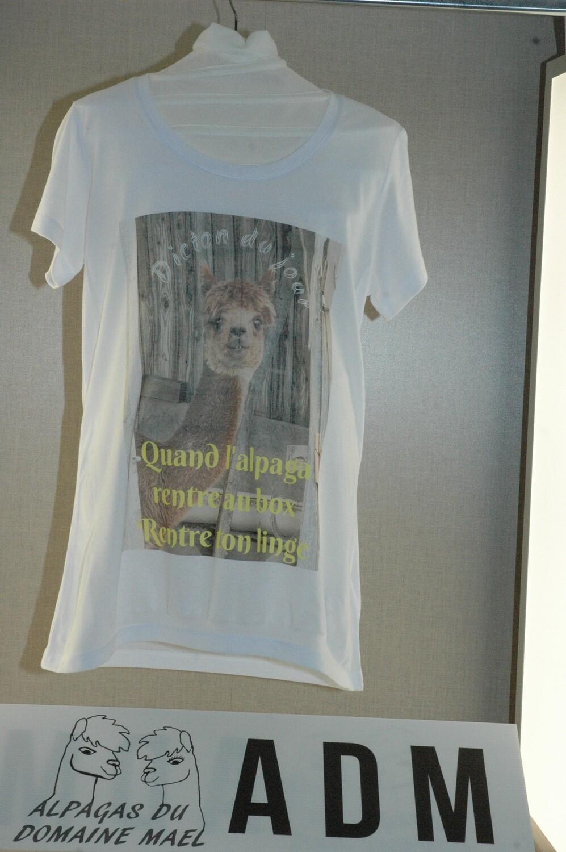 Tee-shirt été avec impression d'alpaga