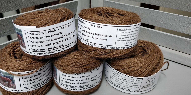 Pelote de couleur Marron en 50 g