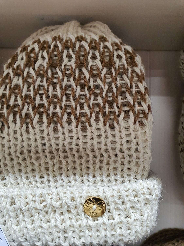 Bonnet avec revers en laine d'alpaga