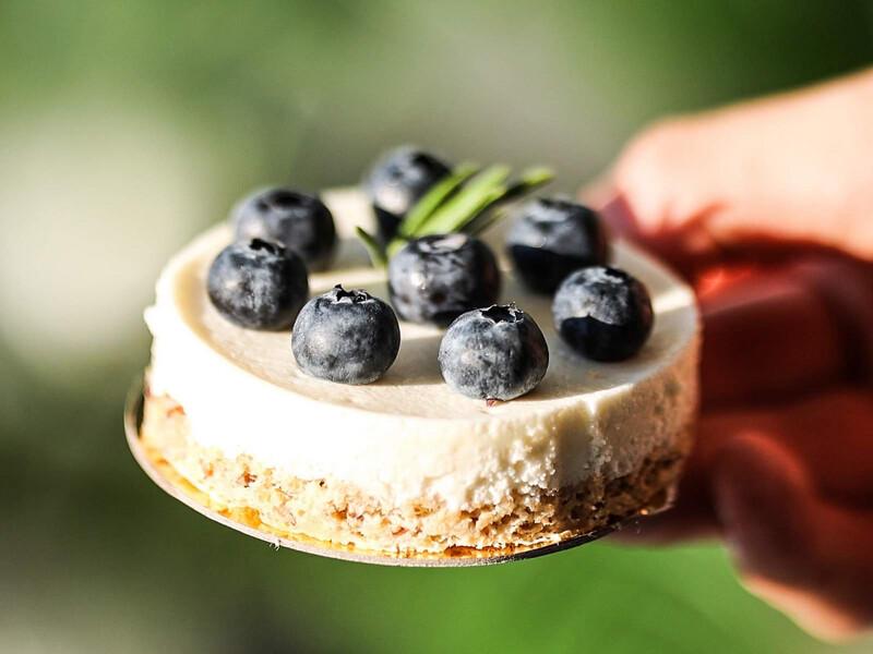 Varškės pyragėlis su šilauogėmis (skersmuo apie 8cm)