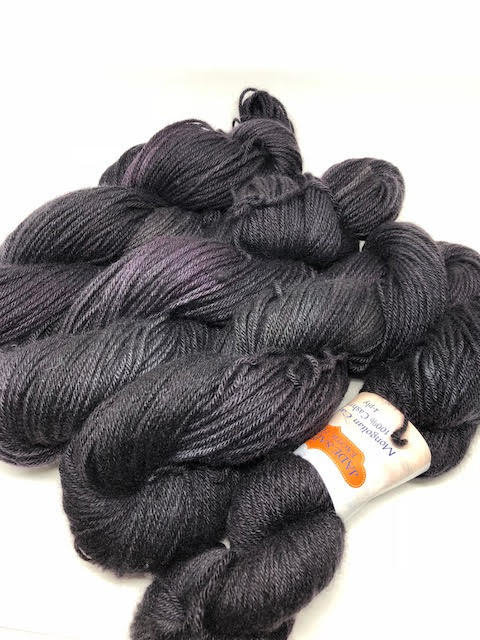 Black With Benefits 6-PLY CASHMERE (worsted weight)