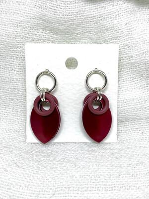 Sølv og Aluminiums ørepynt -Rød-