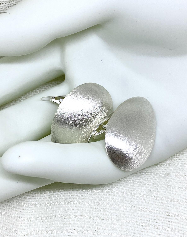 Store sølvskje mansjettknapper