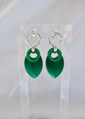 Sølv og Aluminiums ørepynt -grønn-