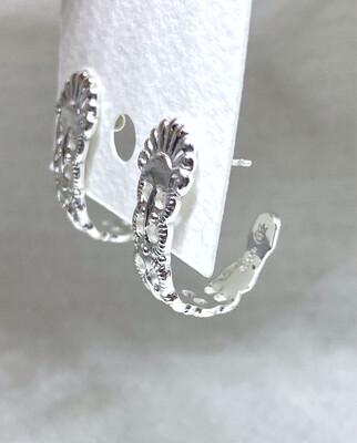 Sølvbestikk øreringer