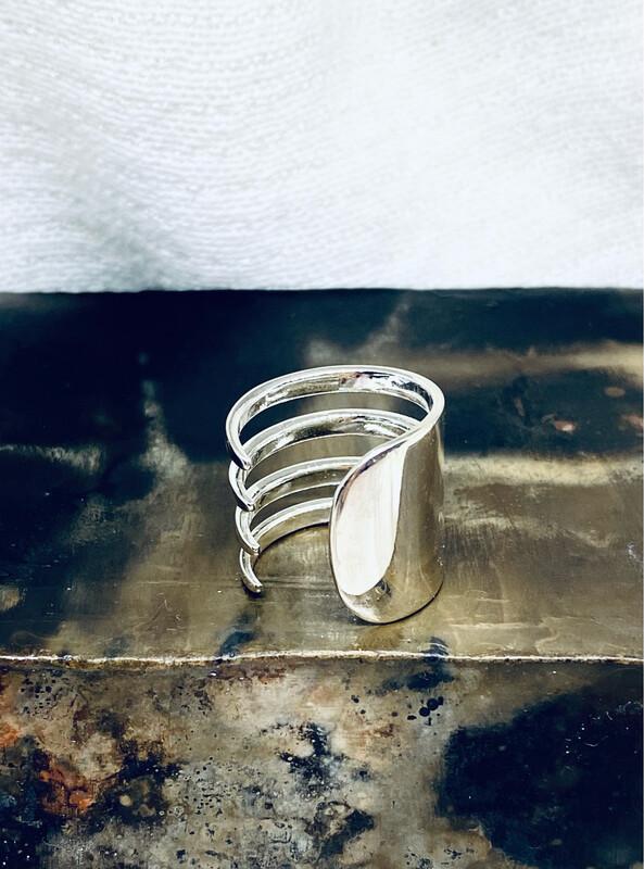 Sølvgaffel Ring