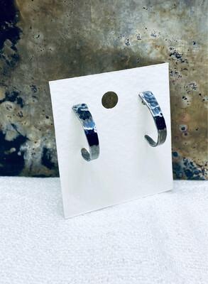 Sølvgaffel øreringer