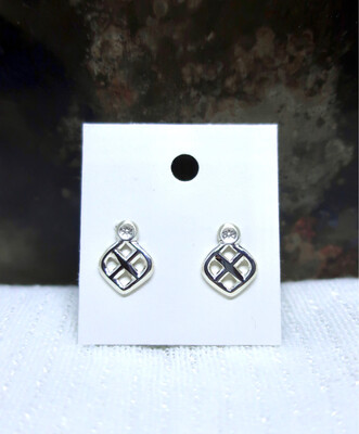 Ear Studs Made From Cutlery
