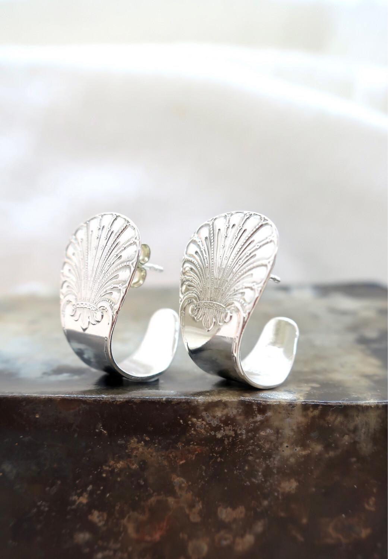 Sølvskje øreringer