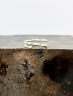 Sølvgaffel ring matt