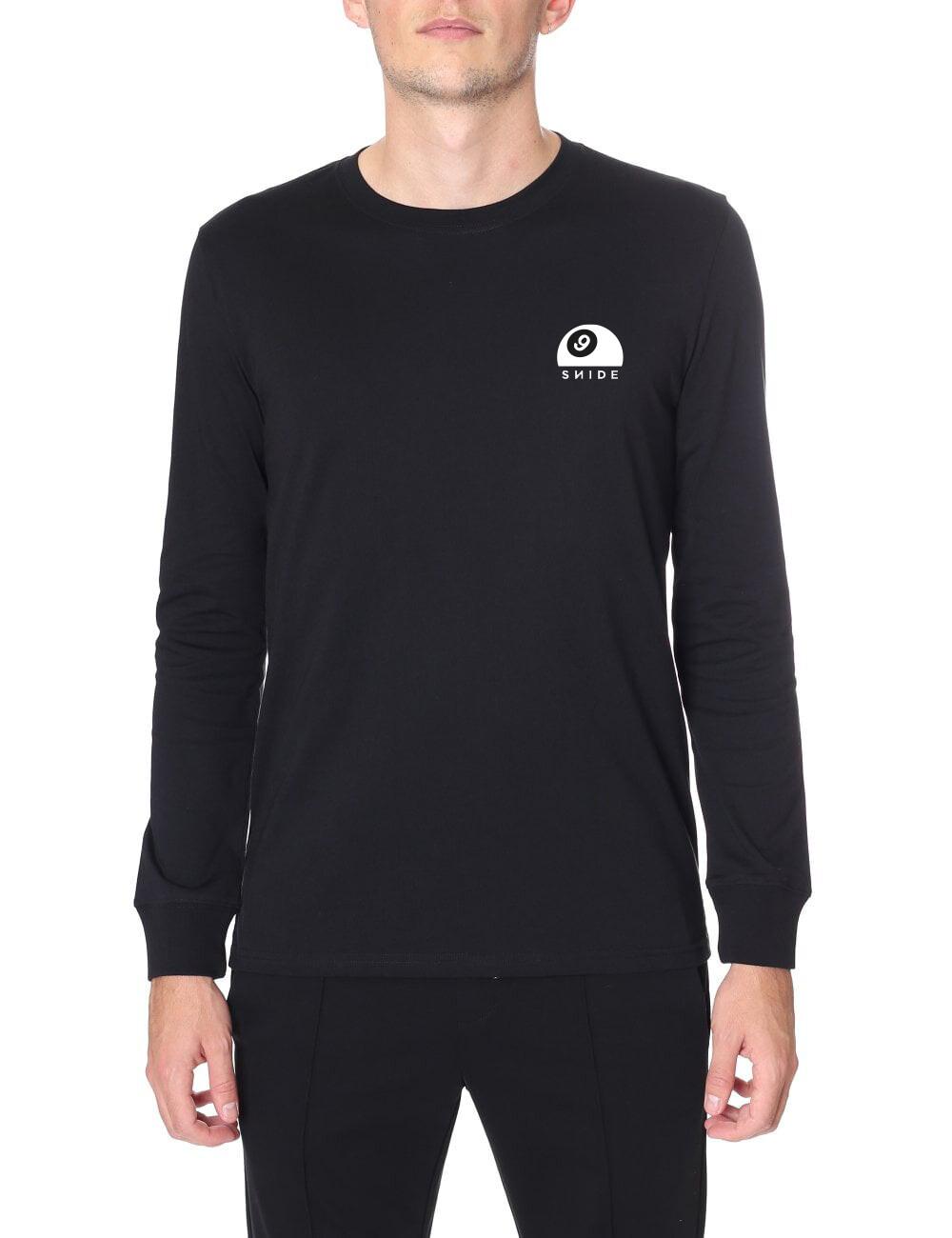 Long-sleeve Classic Half-Nine-Ball Logo T-Shirt