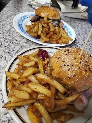 Burger aubergines