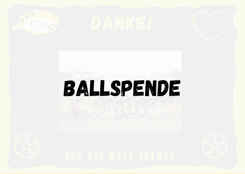 Ballspende (symbolisch)