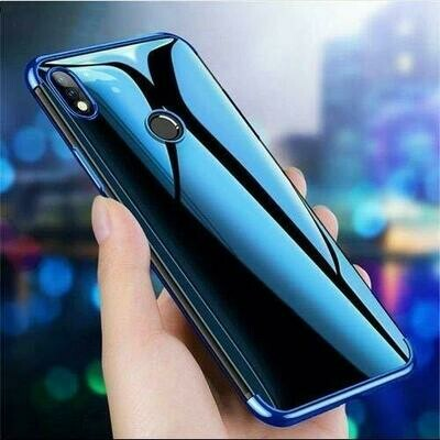 Luxury Soft Transparent TPU with 0.3mm Camera Protection Layer Back Case Cover for Realme 3 Pro (Blue)